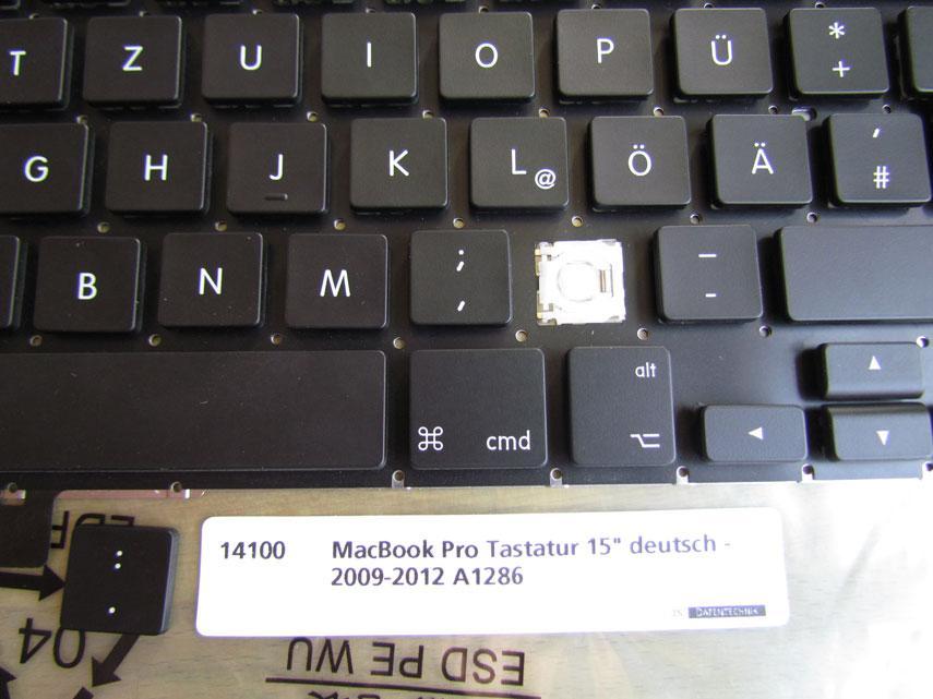 MacBook Pro Tastaturmechanik und Kappen 15 Zoll 2009 - 2012