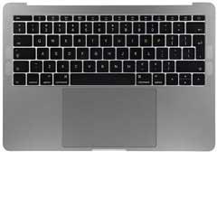 MacBook Pro Gehäuse - Retina 13 TopCase 2018-2019 mit Tastatur space grey A1989