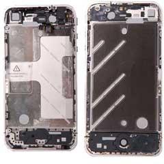 iPhone 4 Mid Frame mit Bezel Full Assembly White