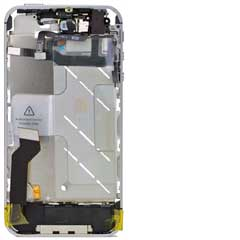 iPhone 4S Mid Frame / Bezel mit Kleinteilen Black