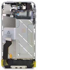 iPhone 4S Mid Frame / Bezel mit Kleinteilen White
