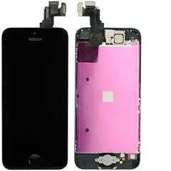 iPhone 5C Display Schwarz komplett - Grade-A+