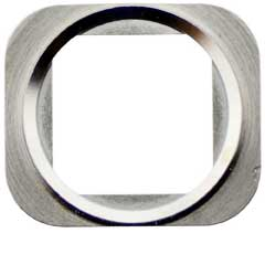 iPhone 5S / SE Home Button Metall Ring silber