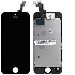 iPhone 5S Display Schwarz komplett - Original